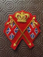 Repro Victorian Infantry Colour Sergeants Badge Crossed flags Zulu War 24th Foot