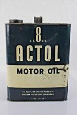 Vintage Actol Motor Oil 2 Gallon 8 Quart Can