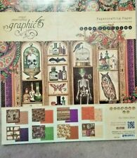 Graphic 45 RARE ODDITIES 12 x 12 Paper Pad Skeletons Owls 24 Sheets HALLOWEEN