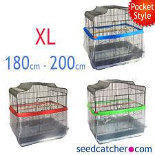 Bird Cage Seed Catcher Guard Tidy Pocket Style - XL - 200cm - Pile Fabric