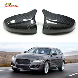 For Jaguar XE XK XF XJ 12-18 OX M Style Carbon Fiber Side Mirror Cover Replace