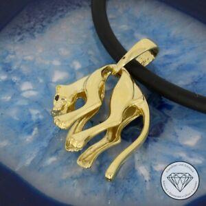 Wert 2.700,- Angesagter Panther Anhänger 585 / 14 Karat Gelb Gold Unisex xxyy