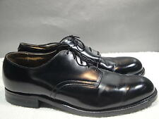 MENS MISMATE 10R/9R CRADDOCK-TERRY USA BLACK LEATHER MILITARY DRESS WORK OXFORD