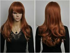 NEWJF894  long brown red mix golden blonde Hair Wigs for modern women wig