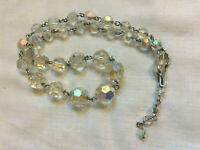 VINTAGE Rainbow Glass Aurora Borealis Short Necklace #2