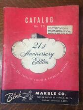 Vtg 1950 Block Marble Co. Parts & Supplies Catalog 20 for Coin Operated Machines
