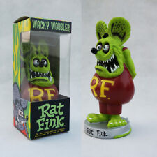 Green Rat Fink Roth Ed Big Daddy Funko Bobblehead Wacky Wobbler Toy Gift Figure