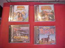 4 games tapes Sony Playstation 1 The Dukes of Hazzard  big game hunter nascar 99