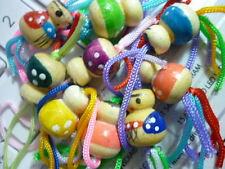 12 Chinitos suerte+2 Azul y Rosa Los Autenticos Originales de madera preciosos