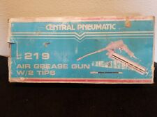 "Central Pneumatic Air Pneumatic Grease Gun Set 1/4"" NPT /2 Tips NEW!"