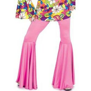 Hippie Pants for Women Black, Pink & Purple 70' Disco Go-Go New by Funny Fashion