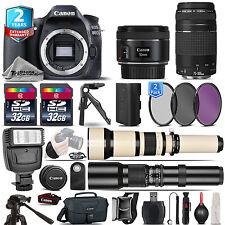 Canon EOS 80D DSLR Camera + 50mm 1.8 STM + 75-300mm III+ 2yr Warranty -64GB Kit