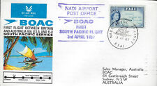 AVIATION :1967 B.O.A.C. First South Pacific Flight -Fiji-Sydney