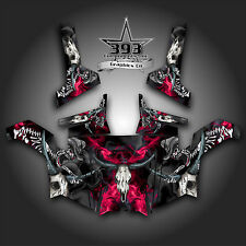 Polaris RZR 800 UTV Graphics Decal Wrap 2011 - 2014 Skull Rider Pink