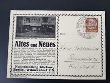 1936 Berlin Autoschau Charlottenburg Frankfurt Germany Auto Show Postcard Cover