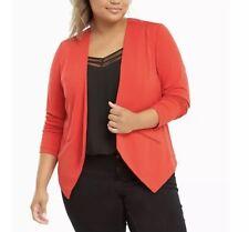 df6568cf2279d Torrid Crepe Cut Away Blazer Size 3 Red Swing Long Sleeves Top Stretch Open  Neck