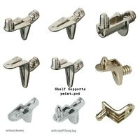 STRONG METAL SHELF SUPPORT PLUG IN 5MM STUD PINS PEGS KITCHEN CABINET CUPBOARD