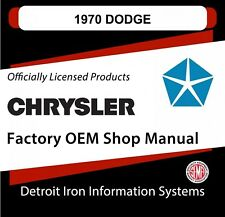 1970 Dodge Challenger TA Charger RT Coronet Super Bee Shop Manual CD