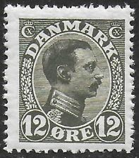 Denmark 1913-28 Christian X 12o Gray Green #101 F-NH CV $10.50