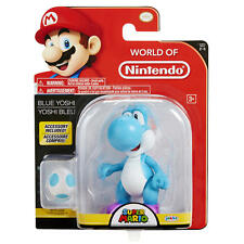 NEW! World of Nintendo Super Mario 4.5 inch Action Figure- Blue Yoshi w/ Egg 2-4