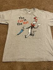 Dr. Seuss The cat in the hat 2003  T-shirt ( damaged ) size L
