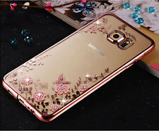 Diamond Flower Silm Clear Back Case Cover For Samsung Galaxy S7edge S8 J3 J5 J7