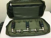 TMC Buzz Bar / Buzzer Bar Bag / case. 3 rod, padded, olive, Carp, Coarse Fishing