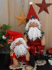 PATTERN Christmas Baby Santa Primitive Raggedy Doll Holiday Folk Art Sewing #95
