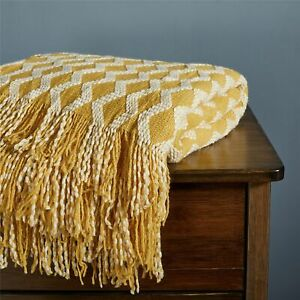 Knitted Throw Blanket With Tassel Nordic Sofa Blankets Cover Soft Bedspread Nap