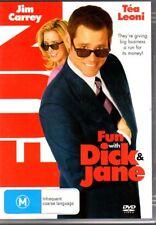 FUN WITH DICK & JANE - DVD R4 (2006) Jim Carrey Tea Leoni LIKE NEW FREE POST