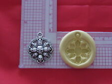 Skulls Charm Gothic Silicone Push Mold A1 Fondant Resin Clay Craft Jewelry Candy
