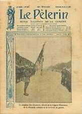 WWI Drapeau Chasseurs Légion d'Honneur Champs-Elysées Paris 1917 ILLUSTRATION