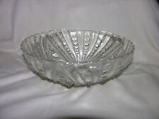 Old clear glass bowl