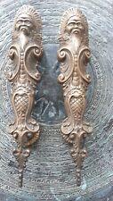 Balinese Brass Door Handles Handmade Antiqued Effect Neptune Figural Heavy OOAK