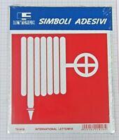 Targhetta Segnaletica Adesiva Letterfix Rossa Bianca Sicurezza Idrante  New