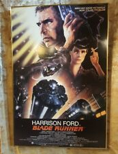 "Original 1982 Blade Runner Theater Hard backed Display  39"" x 26"" Poster"