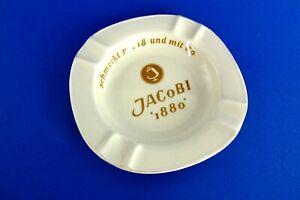 alter Aschenbecher Jacobi 1880 Weinbrand Spirituosen Schwarzenhammer Porzellan