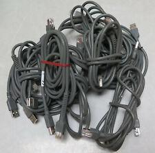 Lot 10 Used Zebra Motorola Symbol Barcode Scanner USB cable for LS2208 Li4278