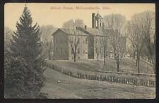 Postcard McCONNELSVILLE Ohio/OH  Local Area School House Campus Building 1907