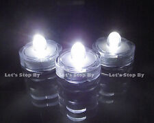 12 Submersible Waterproof Tea Candle Wedding Floral LED lights- Bright White