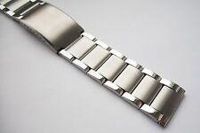 3 bar Link Stainless Steel Watch Bracelet. Satin/polished finish. 20, 22 or 24mm