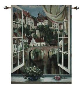 Ponte Rosso, Milan Italy Grande Tapestry Wall Hanging