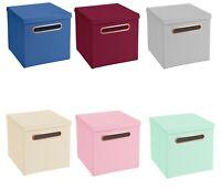 4er Set Rosegold Griff Faltbox 32,5 x 32,5 cm Aufbewahrungsbox Spielzeugkiste