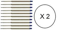 20 - Ballpoint Pen Refills for WATERMAN - BLUE MEDIUM