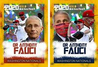 (2) DR. ANTHONY FAUCI OPENING DAY FIRST PITCH THROWN GOLD CRACKED ICE NATIONALS!