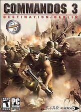 Commandos 3 Destination Berlin (2003 EIDOS Windows 98/2000/XP) PC CD ROM **NEW**