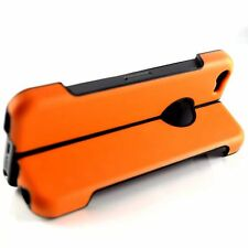 Apple iPhone 5, 5S & SE Folding Case With Stand Rugged High Density Cover Orange