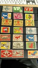 MATCHBOX LABELS - SWEDEN SWEDISH SELECTION - 21 LABELS