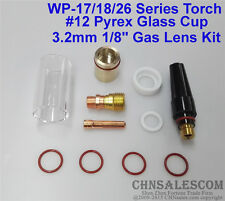 """11 pcs TIG Welding Stubby Gas Lens #12 Pyrex Cup Kit  for Tig WP-17/18/26 1/8"""""""