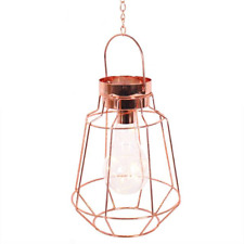Copper Geometric Light - Battery Hanging Lamp